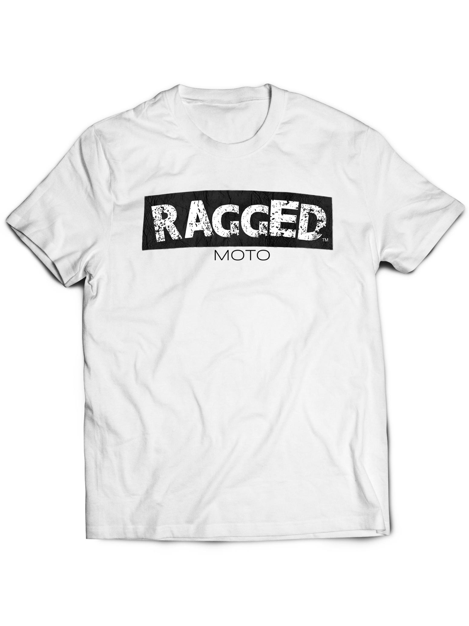 Ragged Moto T Shirt White